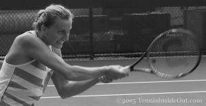 Petra grimace tough backhand hard swing Western and Southern Open 2015 pics images