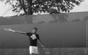 Roger Federer Get Your Swoosh On tee Nike backhand photos