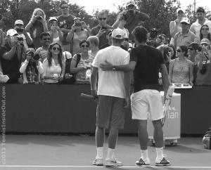 Roger Federer black and white photography posting for pictures Cincinnati practice photo by Valerie David