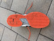 My Asics tennis shoe rubber outsole after 12 months of playing on clay