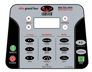 Lobster Elite Grand Four Control Panel