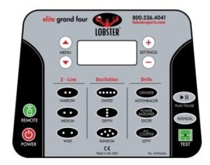 Lobster Elite Grand Four Control Panel