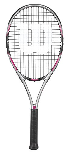 The Wilson Hope Lite has an over-sized racquet head and is also light  weight makes this a perfect racquet for any beginner tennis player. 6778150a295a8