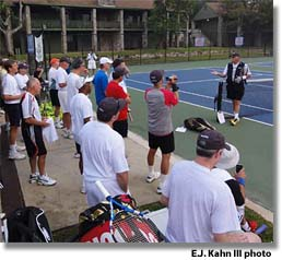Opening day at Newk's Legends Tennis Camp 2011