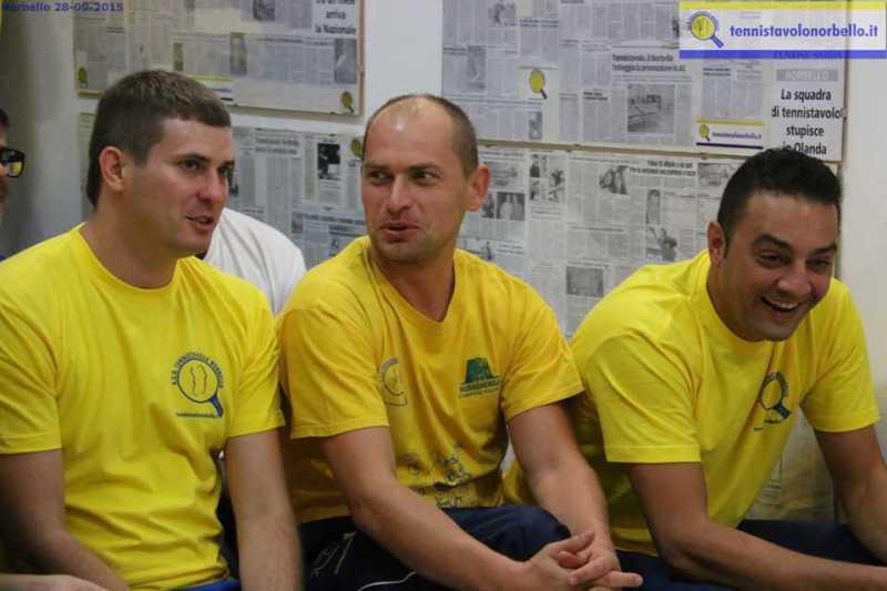 a dx Massimilano Mondello con Panchenko e Kuznetsov (Foto Gianluca Piu)