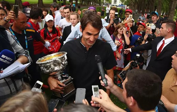 Federer reflects after his historic win