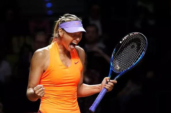 Sharapova makes a noisy return