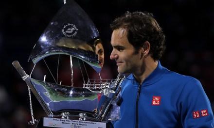 Dubai   Federer hits his ton