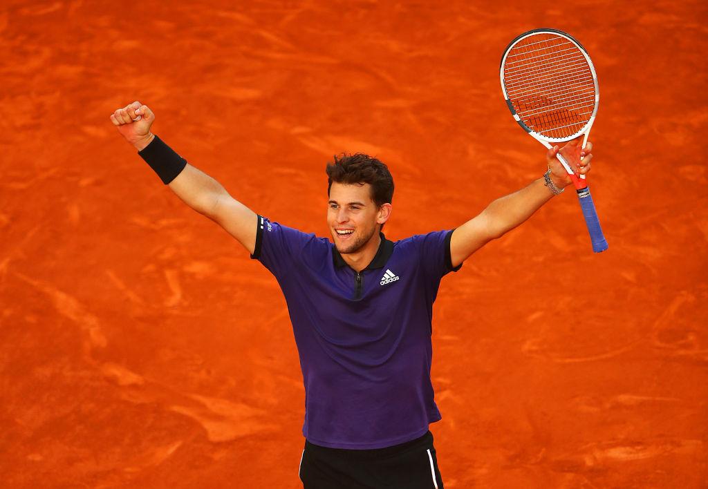Madrid   Thiem saves match points to beat Federer
