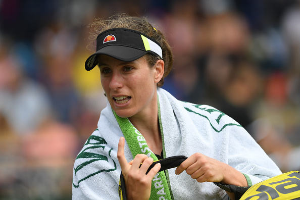 Eastbourne   Konta's run ends abruptly