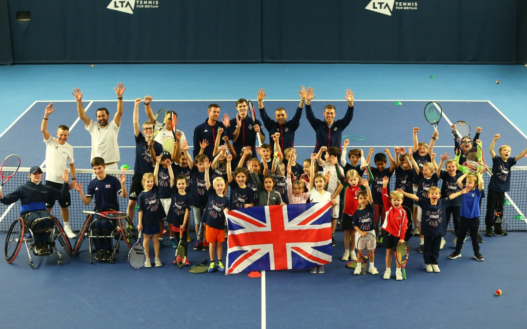 London | Kids put GB Davis Cup Team through their paces ahead of Madrid finals