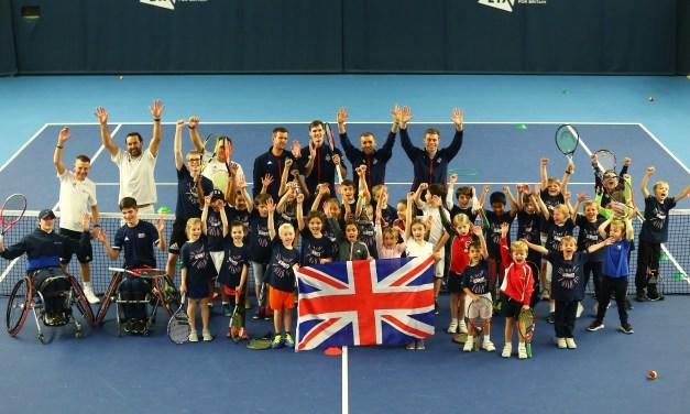 London | Kids put GB Davis Cup Team through their paces ahead of Madrid finals
