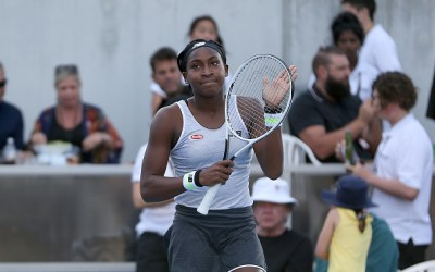 Auckland   Coco wins as Serena teams up with Wozniacki