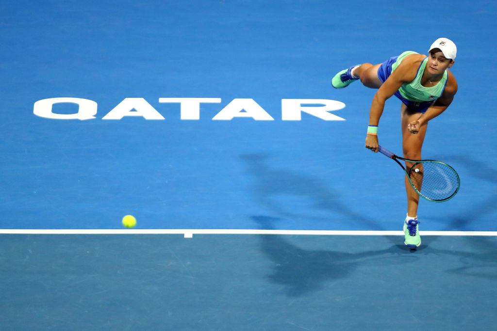 Doha   Barty beats Muguruza to meet Kvitova