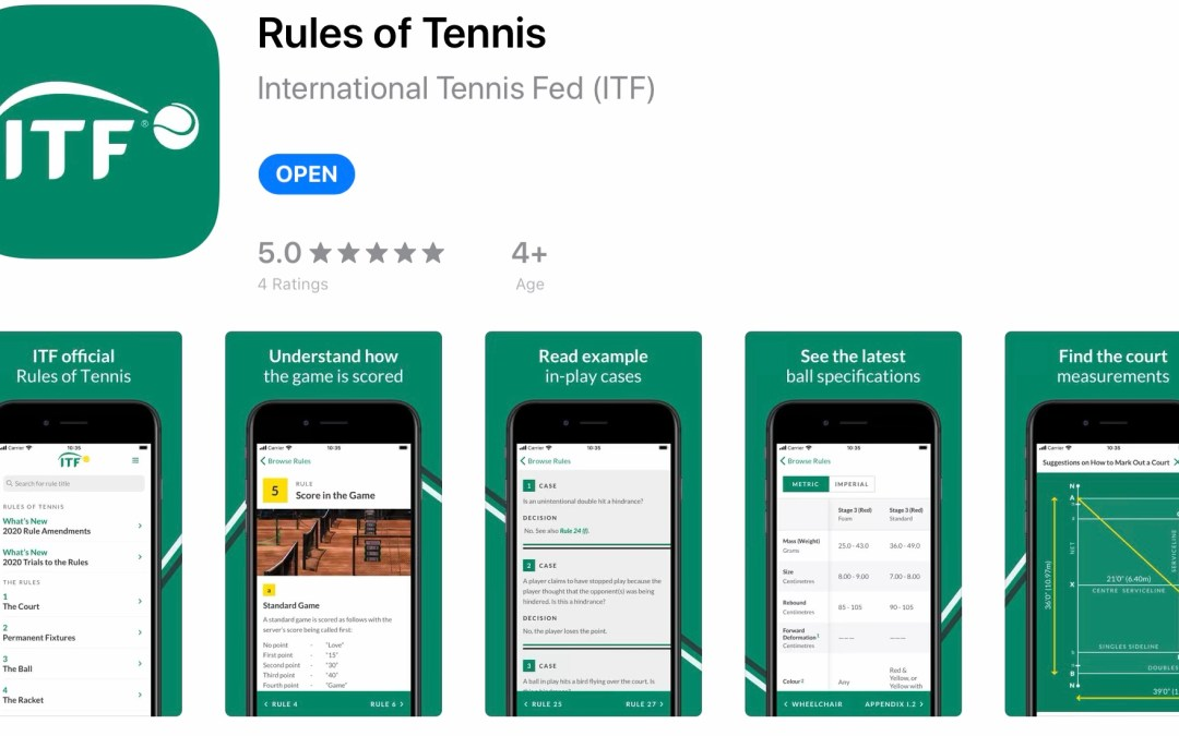ITF launches Rules of Tennis App
