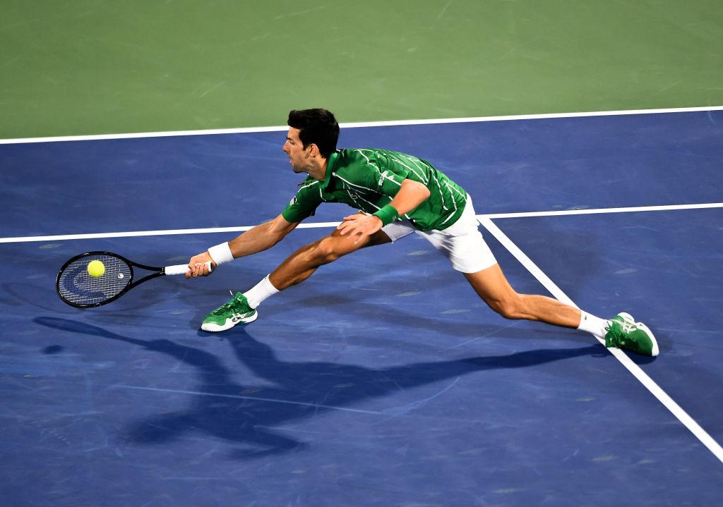Djokovic has been practising, in secret