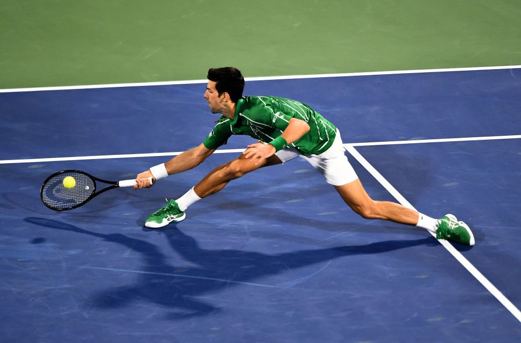 Djokovic has been practising, in secret