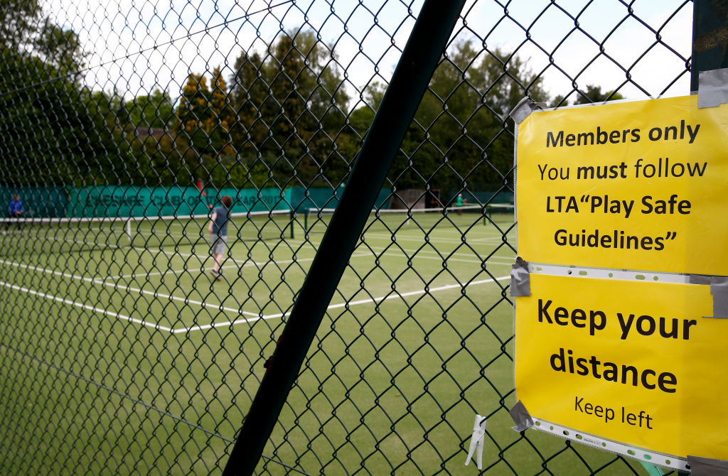 London | Back on court with social distancing