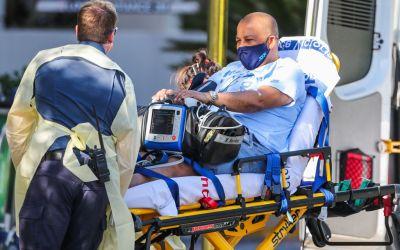Bernades taken to Melbourne hospital