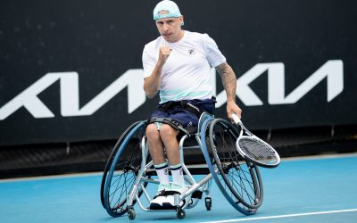 Lapthorne, Hewett, and Reid reach AO Wheelchair singles semis