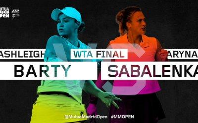 Barty to meet Sabalenka in Madrid final