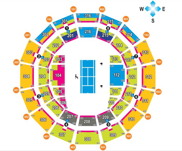 Brisbane International Stadium Map