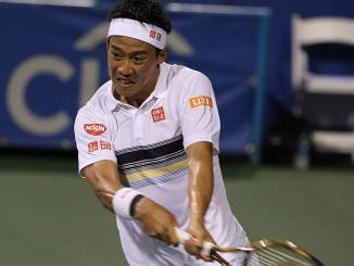 Kei Nishikori was a second round winner in four sets at the US Open