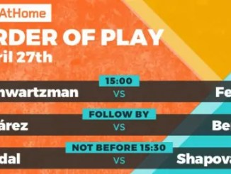 Madrid Open Virtual Pro Order of Play