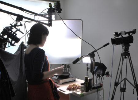 レシピ動画の撮影風景