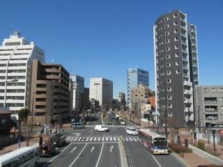大通りのある街