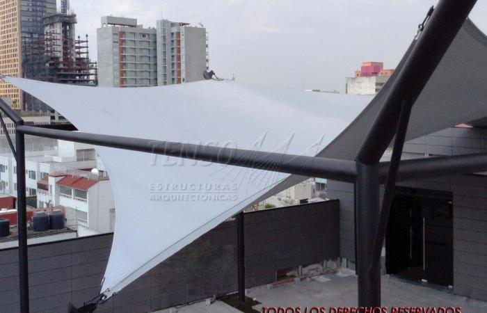 Velaria en Edificio CDMX