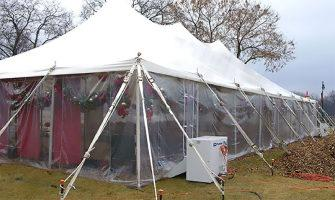 how to heat a party tent in winter