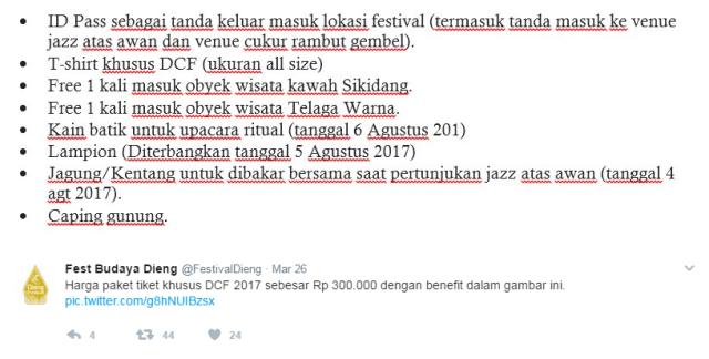 Harga Tiket DCF 8 2017