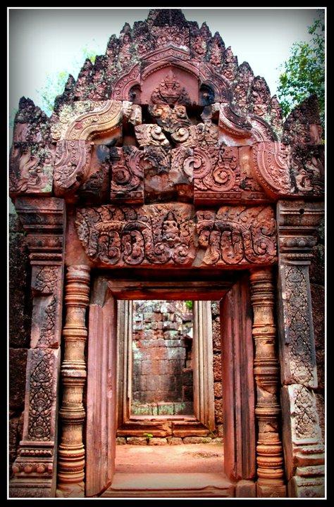 Ukiran Candi : ukiran, candi, Banteay, Srei,, Permata, Khmer, Cantik, Abadi, Rhyme, Heart