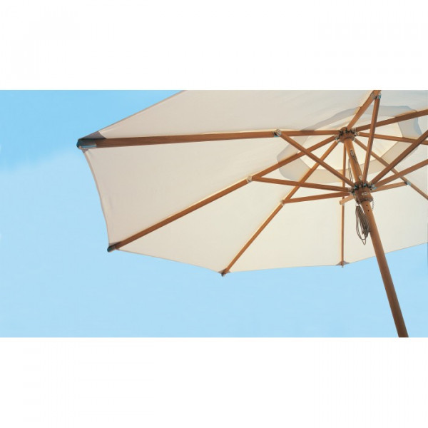 teak parasol 2 10 x 2 10 m
