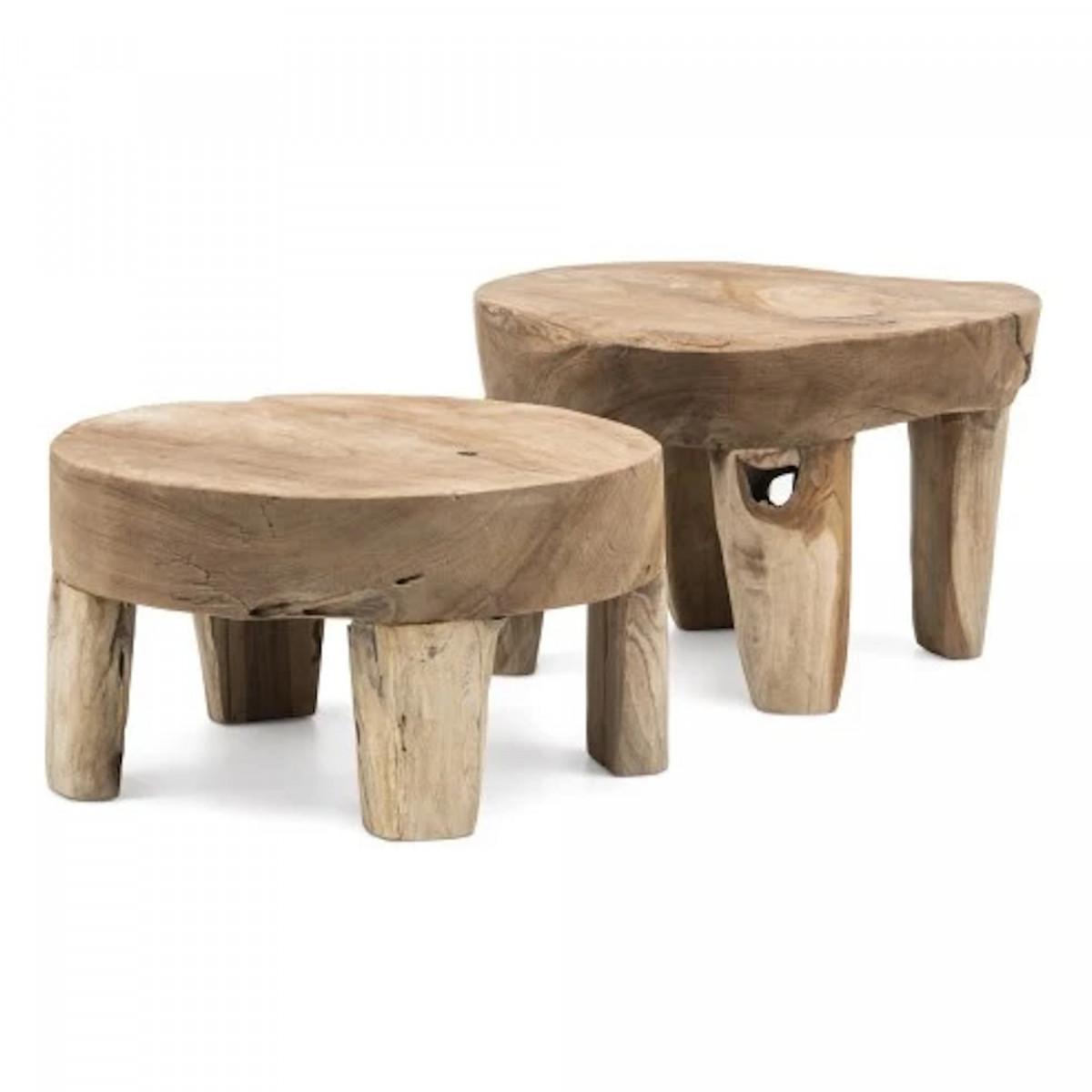 table basse samba en teck pour jardin et salon gommaire tentation