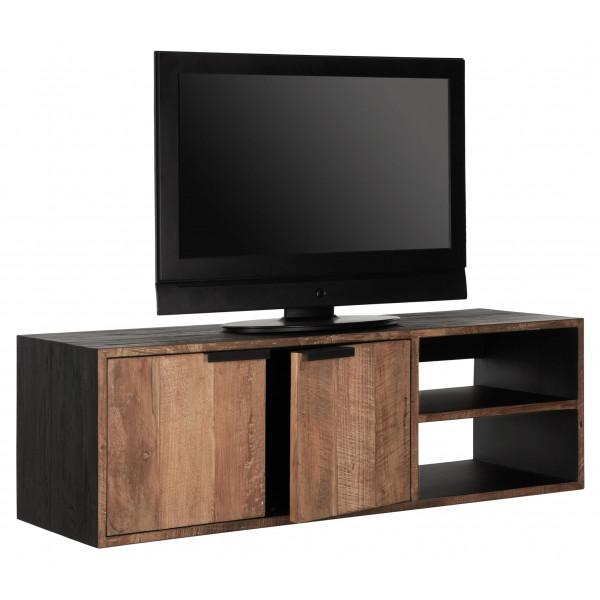 meuble tv suspendu cosmo no 1 avec 2 portes et 2 etageres