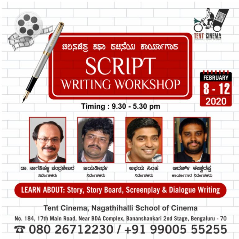 Script Writing Workshop at Tent Cinema