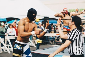 Lucha Libre at 10th Ave Burrito outdoor event