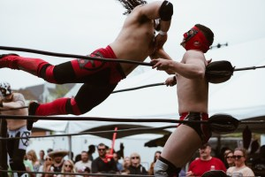 Lucha Libre at 10th Ave Burrito's Cinco de Mayo Event