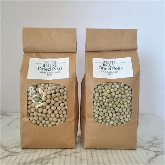Two bags of dried peas