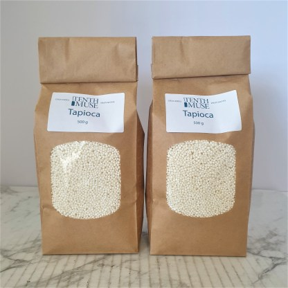 Two packets of tapioca pearls
