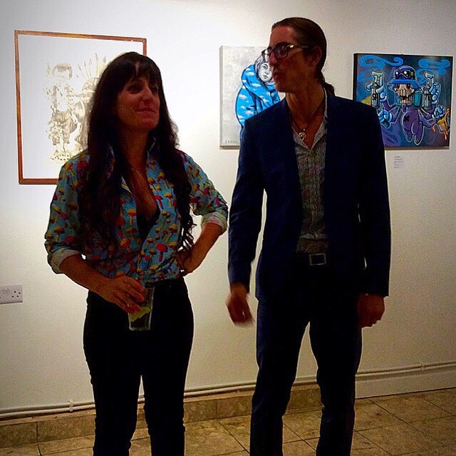 Lara Fiorentino and Greg Key at the launch of BSMT Space in Dalston. Photo by Tania D Campbell