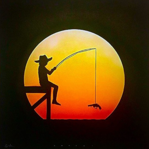 """Extreme Fishing"" © by Otto Schade. Photo by Tania D Campbell"