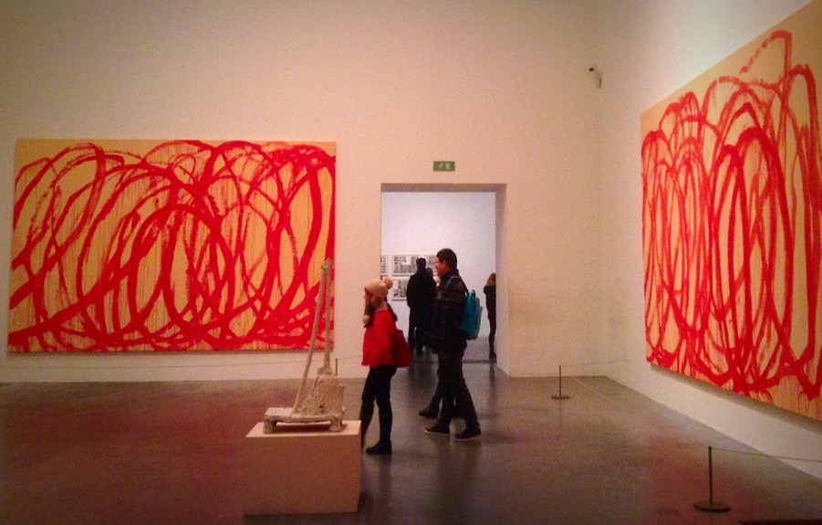 Art by Cy Twombly. Photo by Tania D Campbell