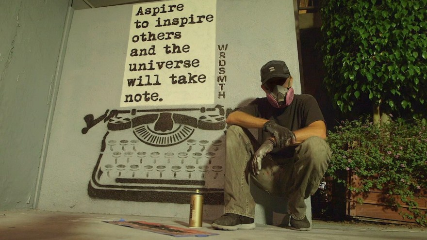 """Aspire To Inspire"" by WRDSMTH. Photo by Playboy. Photo provided courtesy of WRDSMTH"