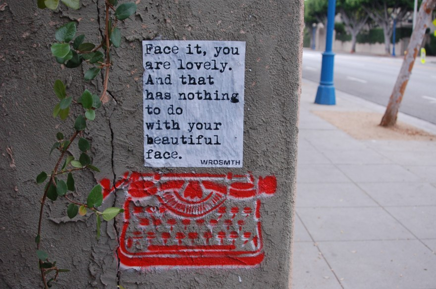 """Face The Facts"" by WRDSMTH. Photo courtesy of the artist."