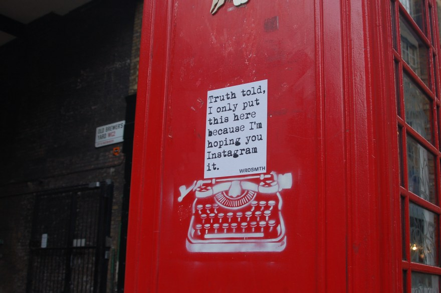 """Instagram"" by WRDSMTH. Photo courtesy of the artist."