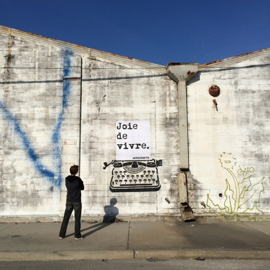 """joy of life"" by WRDSMTH. Photo courtesy of the artist."