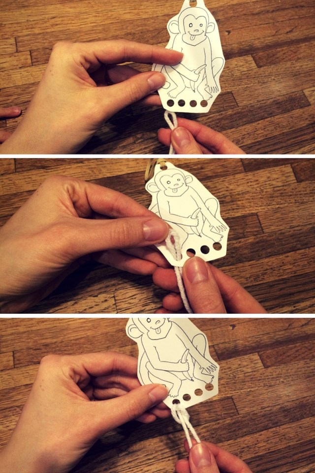 5 Little Monkeys process art and craft